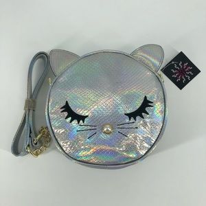 Olivia Miller silver holographic crossbody purse